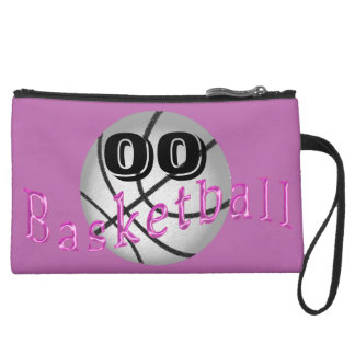 Radiant Orchid Personalized Basketball Clutch