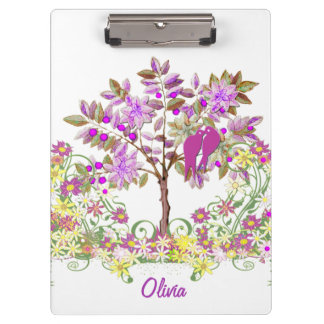 Radiant Orchid Personalized Home Decor Clipboard