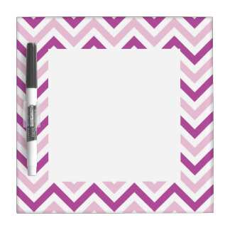 Radiant Orchid & Pink Chevron Dry Erase White Board