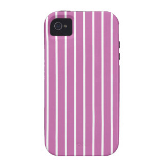Radiant Orchid Pinstripe pattern iPhone 4/4S Cases