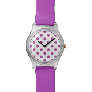 Radiant Orchid Polka Dots Wristwatch