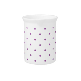 Radiant Orchid Polkadots Small Pitcher