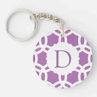 Radiant Orchid Purple Pattern Keychain