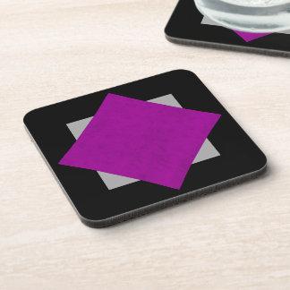 Radiant Orchid Purple Velvet Custom Home Casino Coasters