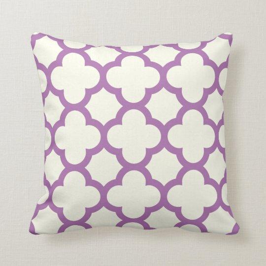 Radiant Orchid Quatrefoil Throw Pillow Zazzle
