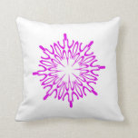 Radiant Orchid Snowflake Pillow