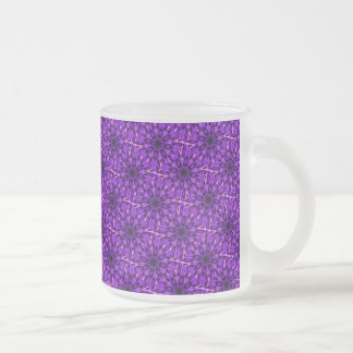 Radiant Orchid Spotted Leopard Kaleidoscope Frosted Glass Coffee Mug
