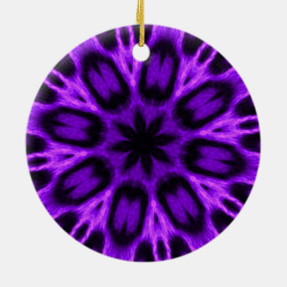 Radiant Orchid Spotted Leopard Kaleidoscope Christmas Ornament