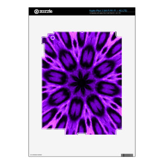 Radiant Orchid Spotted Leopard Kaleidoscope iPad 3 Skins