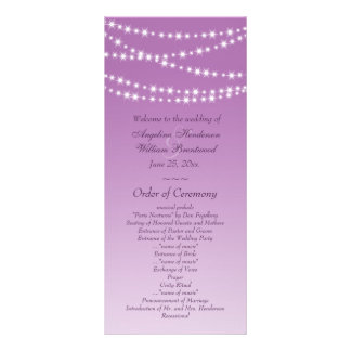 Radiant Orchid Twinkle Lights Wedding Program