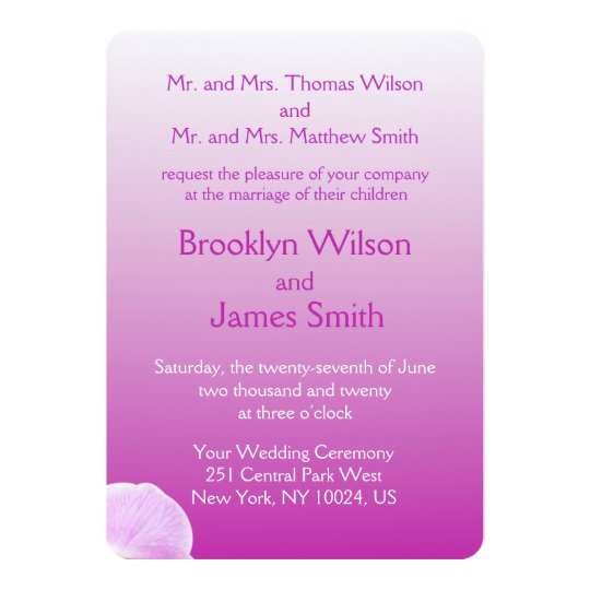 Radiant Orchid Wedding Invitations