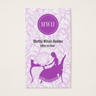 Radiant Orchid Writer Author Business Card