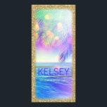 "Radiant Palm Tree Rack Card Faux Glitter<br><div class=""desc"">Design by Jill McAmis &#169; 2016</div>"