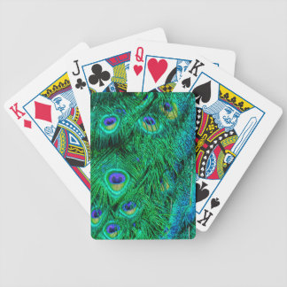 Radiant Peacock Feathers Photo Design Bicycle Playing Cards