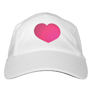 radiant pink heart headsweats hat