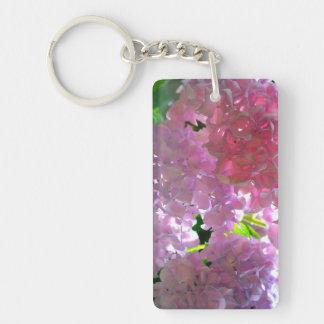 Radiant Pink Hydrangeas Keychain