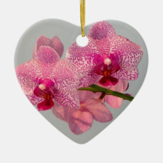 Radiant Pink Orchids Christmas Ornament