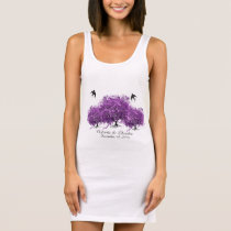 Radiant Purple Heart Leaf Tree Wedding Sleeveless Dress