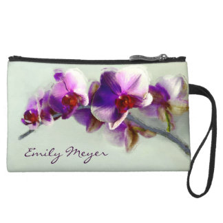 Radiant Purple Orchid Flowers Clutch Bag