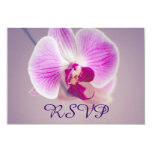 Radiant Purple Orchid Wedding RSVP 3.5x5 Paper Invitation Card
