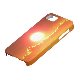 Radiant Red and Gold Hawaiian Sunset iPhone 5 Cover