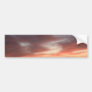 Radiant Red and Orange Sunset Sky Bumper Sticker