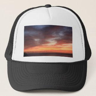 Radiant Red and Orange Sunset Sky Trucker Hat