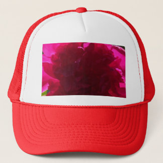 Radiant Red Peony Trucker Hat