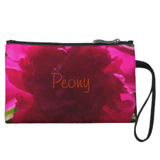 Radiant Red Peony Wristlet Wallet
