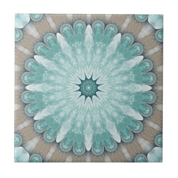 Beach Themed Radiant Sea Star Geometric Ceramic Bathroom Tile