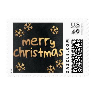 Radiant Snowflakes Christmas Holiday Postage