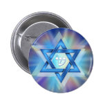Radiant Star of David Button
