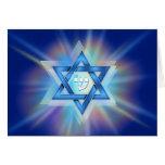 Radiant Star of David Card