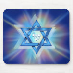 Radiant Star of David Mousepad