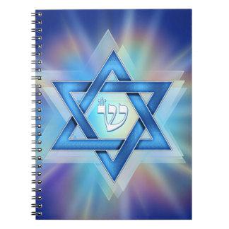 Radiant Star of David Notebook