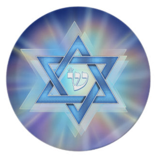 Radiant Star of David Plate