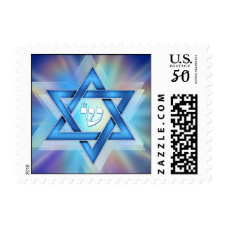 Radiant Star of David Postage