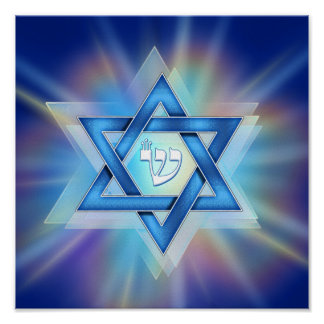 Radiant Star of David Poster