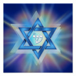 Radiant Star of David Poster Posters