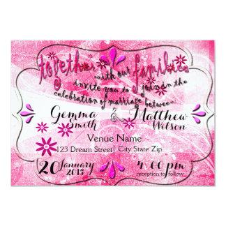 Radiant Summer Bloom Wedding Invitation