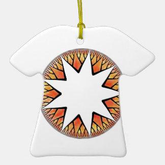 Radiant Sun Star Double-Sided T-Shirt Ceramic Christmas Ornament