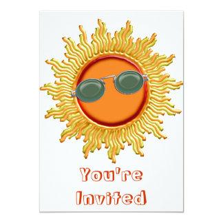 Radiant Sun with Sunglasses 5x7 Paper Invitation Card