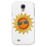 Radiant Sun with Sunglasses Galaxy S4 Cases