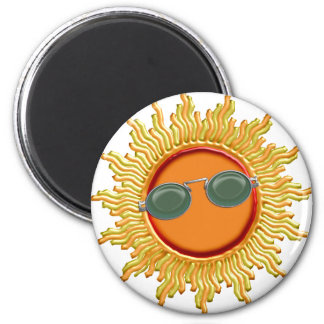 Radiant Sun with Sunglasses Magnet