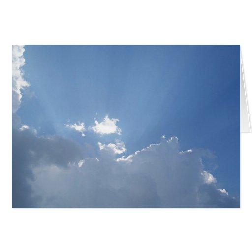 Radiant Sunbeams Greeting Cards