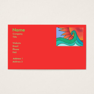 Radiant Sunset Business Card Template