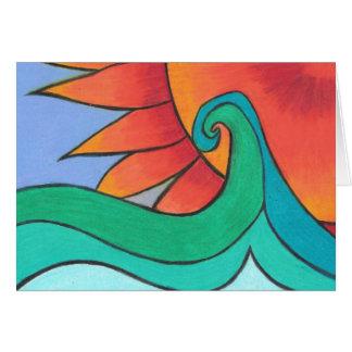 Radiant Sunset Card
