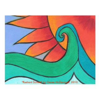 Radiant Sunset Postcard