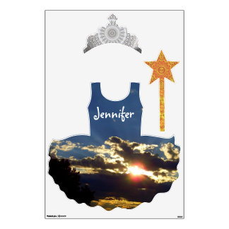 Radiant Sunset Princess wall decals