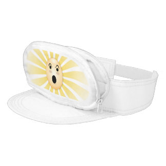Radiant Surprised Funny Face Pouch Visor
